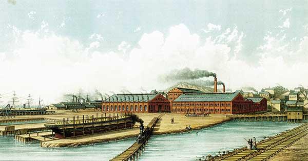 Union Iron Works Plant at Potrero, 1880s